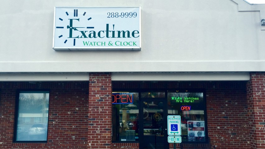 Exactime Watch and Clock Store Front