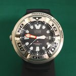 Pre-owned Citizen Promaster Diver 300m with stainless steel case black rubber strap