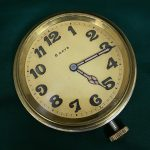 Yellow antique Swiss 8 Day Clock