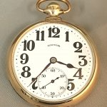 Illinois Sangamo 23 Jewel Special Circa 1917-1923 Size 16S Model 10 nickel finish lever set movement pocket watch