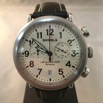 Pre-Owned Shinola The Runwell Chronograph Argonite 5021 cream dial